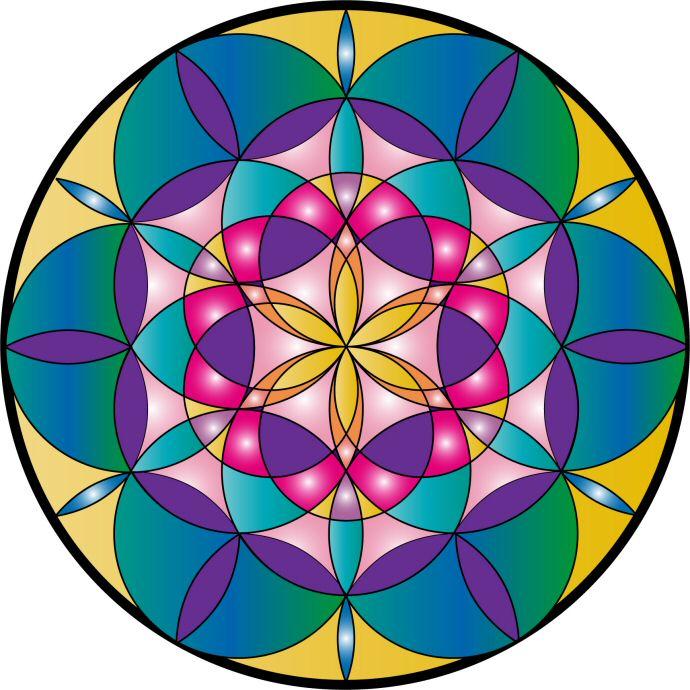 voorbeeld mandala kleurplaat mooie helder gekleurde