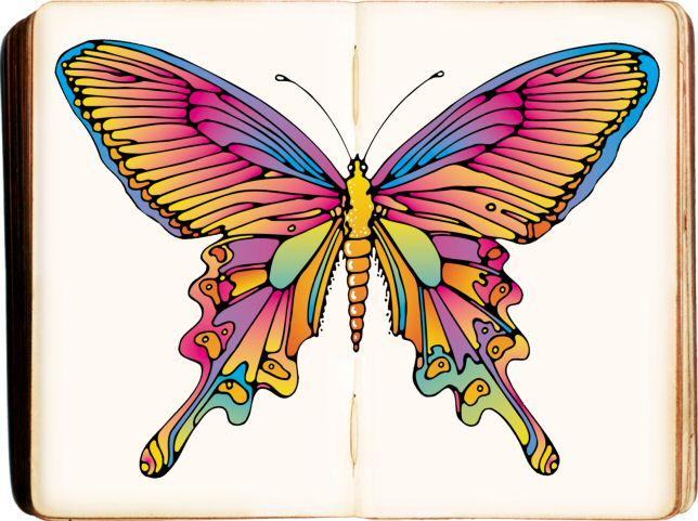 Kleurplaten Boek Printen.Voorbeeld Kleurplaat Vlinder Boek Pastel Om Gratis Uit Te Printen